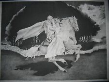 * Tri Chem 8209 Romantic Ride Sword Horse Knight Lady Picture Trichem