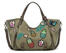 Desigual Pinday Rossoterdam Shoulder Bag Kaki