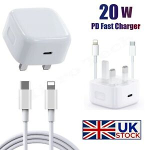 For iPhone 13 12 11 Pro Mini XR XS MAX Fast Charging USB-C PD Plug Charger Cable