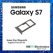 NEW Genuine Samsung Galaxy S7 double carte SIM/Micro SD Adaptateur argent