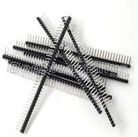 10Pcs 40Pin 2.54mm Single Row Right Angle Pin Header Strip Arduino kit NEW