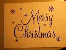 "Schablone "" Merry Christmas2."" auf A4"