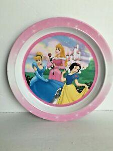 "Princesses Cinderella, Auroa and Snow White Melamine Plate 8.5"" Diameter"