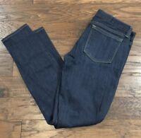 J Crew Toothpick Jeans Size 25 Ankle Dark Wash Denim Skinny Pants Stretch