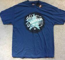 Harley Davidson Star logo blue Shirt Nwt Men's XL