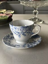 WHITTARD Blue Flowers Teacup Saucer