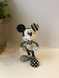 Mickey Mouse Romero Britto Figure Statue Black And White Design