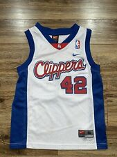 Vintage Nike LA Clippers Elton Brand Sewn White NBA Basketball Jersey Youth S