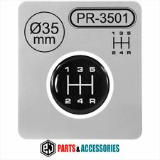 Palanca de cambio Gear Knob Pegatinas 3D abovedado Stick patrón Emblema Insignia 5 velocidad ∅= 35