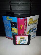 The Smurfs - Travel the world Video Game for Sega Genesis! Cart & Box