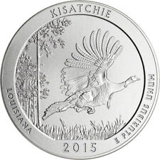 2015-P US America the Beautiful Five Ounce Silver Uncirculated Coin Kisatchie