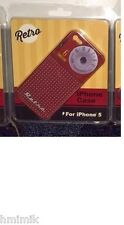 NEW RETRO VINTAGE iPHONE 5 EASY SNAP ON COVER CASE SHELL RADIO 6 TRANSISTOR RED