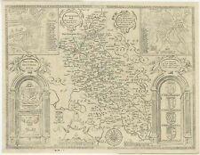 Antique Map of Buckinghamshire by Overton (1743)