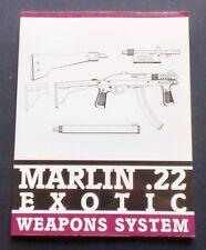 Militaria Armi - Marlin .22 Exotic Weapons System - Paladin Press - 1999