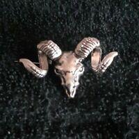 Goat skull Pin Diabolic Skull pin.