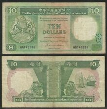 HONG KONG - 10 Dollars 1.1.1986 Pick 191a  VF