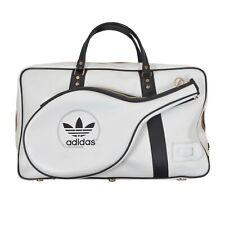 VINTAGE Adidas Tennistasche Bag Weiss White '80s Retro Badminton Reisetasche