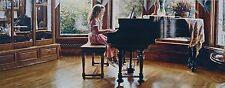 "Steve Hanks, ""The Music Room"", limited edition, framed, 31""h x 13""w image"