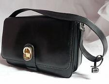 DELVAUX - sac en cuir noir, Modèle Déposé.