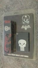 by MARVEL THE PUNISHER new FRONT POCKET WALLET and BELT COMBO