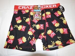 Foodie Collection Fries Crazy boxer shorts underwear mens lounge M cbfdd01fryy