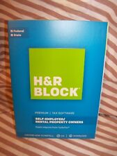H&R Block PREMIUM Federal & State 2017 Tax Software Self employed Property Owner