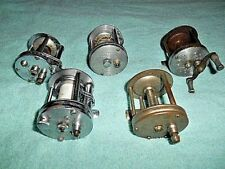 Lot Of 5 Vintage Bait Caster Fishing Reels - For Parts Or Repair
