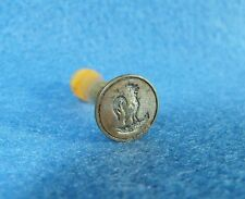 Antique 19th Century Victorian Amber Handled Rooster Sealing Wax Stamp Seal