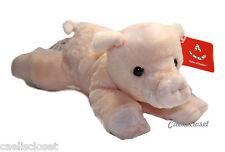 "Aurora Percy PIG 8"" Flopsie Plush Peach Piglet Stuffed Animal NEW"