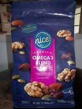OMEGA 3 BLEND 7oz 'nice'snack Trail Mix Walnuts Almonds Pumpkin Seed Cranberries