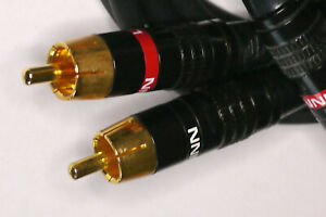 LINN PAIR OF BLACK 1.2 m RCA INTERCONNECT CABLES