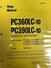 Komatsu PC360LC-10 PC390LC-10 Service Repair Printed Manual