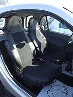 2x Sitzbezüge Vordere Schonbezüge Schwarz Polyester Hochwertig Neu passgenau für