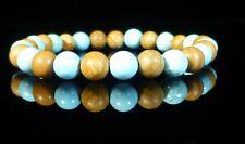 Turquoise Wood Grain Gemstone Bracelet 6mm