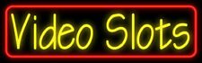 """New Video Slots Beer Neon Sign 32"""" Artwork Light Real Glass Poster Decor Poster"""