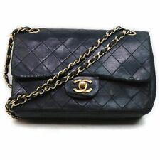 Chanel bolso de hombro de cuero negro 1503697