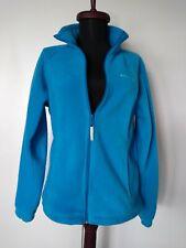Women's COLUMBIA Full Zip Fleece Jacket Coat, Light-Blue, Medium EUC