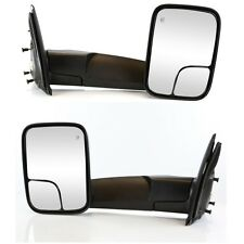 Pair for 02-08 09 Dodge Ram 1500 2500 3500 Power Heated Towing Mirrors Flip up