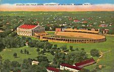 Madison Wisconsin ~ Universidad Estadio & Campo Casa Tarjeta Postal