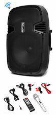 Pyle PPHP152BMU 1000 Watt 15 Inch Bluetooth Powered Active PA DJ Speaker System