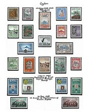 Ceylon.  Collection of 102 stamps, 1952 to 1969, Mint.