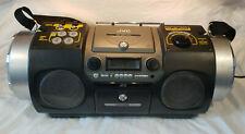 Jvc Rv-Dp100 Fm Cd Cassette Drum Pad Pallette Woofer Scratch Rhythm Boombox