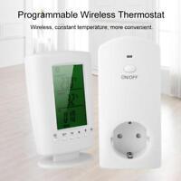 Programmierbar Raumthermostat Funk-Thermostat Steckdosenthermostat Steckdose EU