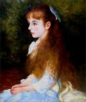 Renoir Pierre-Auguste Mademoiselle Irene Repro Hand Painted Oil Painting 20x24in