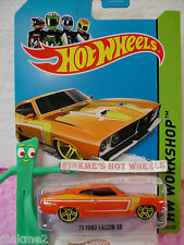 Case B 2014 Hot Wheels '73 FORD FALCON xB 1973 #238 US ☆Orange/Yellow☆Muscle