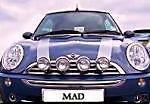 BMW MINI 2002 Faretti Lampade di guida Kit Completo Cromo Spazzolato Acciaio come