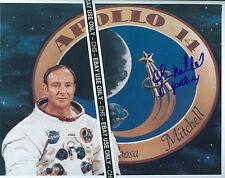 EDGAR MITCHELL VERY NICE SIGNED COLOR 8x10 PHOTO NASA APOLLO 14 ASTRONAUT