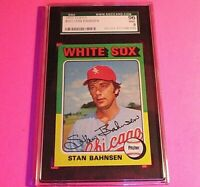 1975 Topps #161 Stan Bahnsen,  Graded MINT SGC 9 (96),  White Sox,
