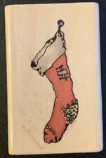 Uptown Rubber Stamps Christmas Stocking Boyds Collection Rubber Stamp