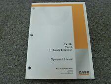 Case CX17B Tier 4 Hydraulic Excavator Owner Operator Maintenance Manual
